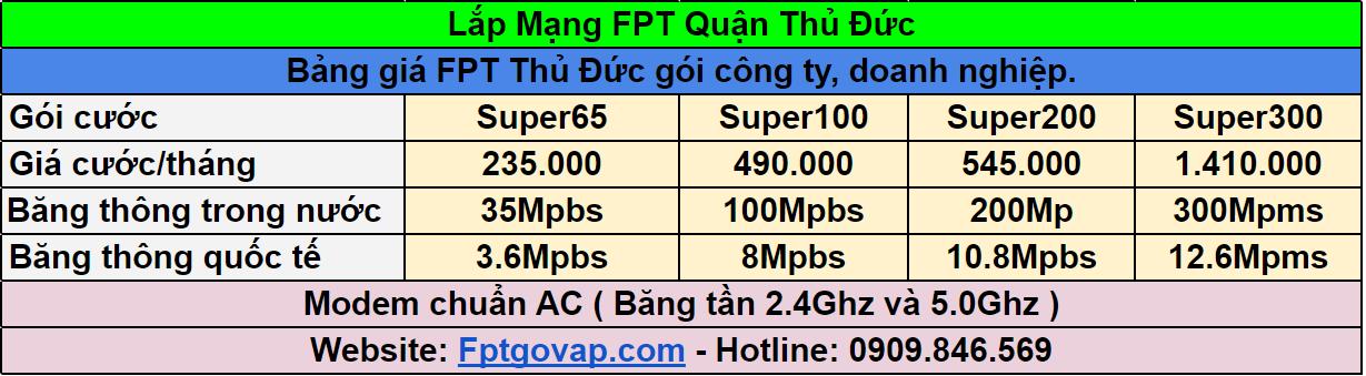 Bảng giá lắp mạng FPT dành cho công ty, doanh nghiệp.