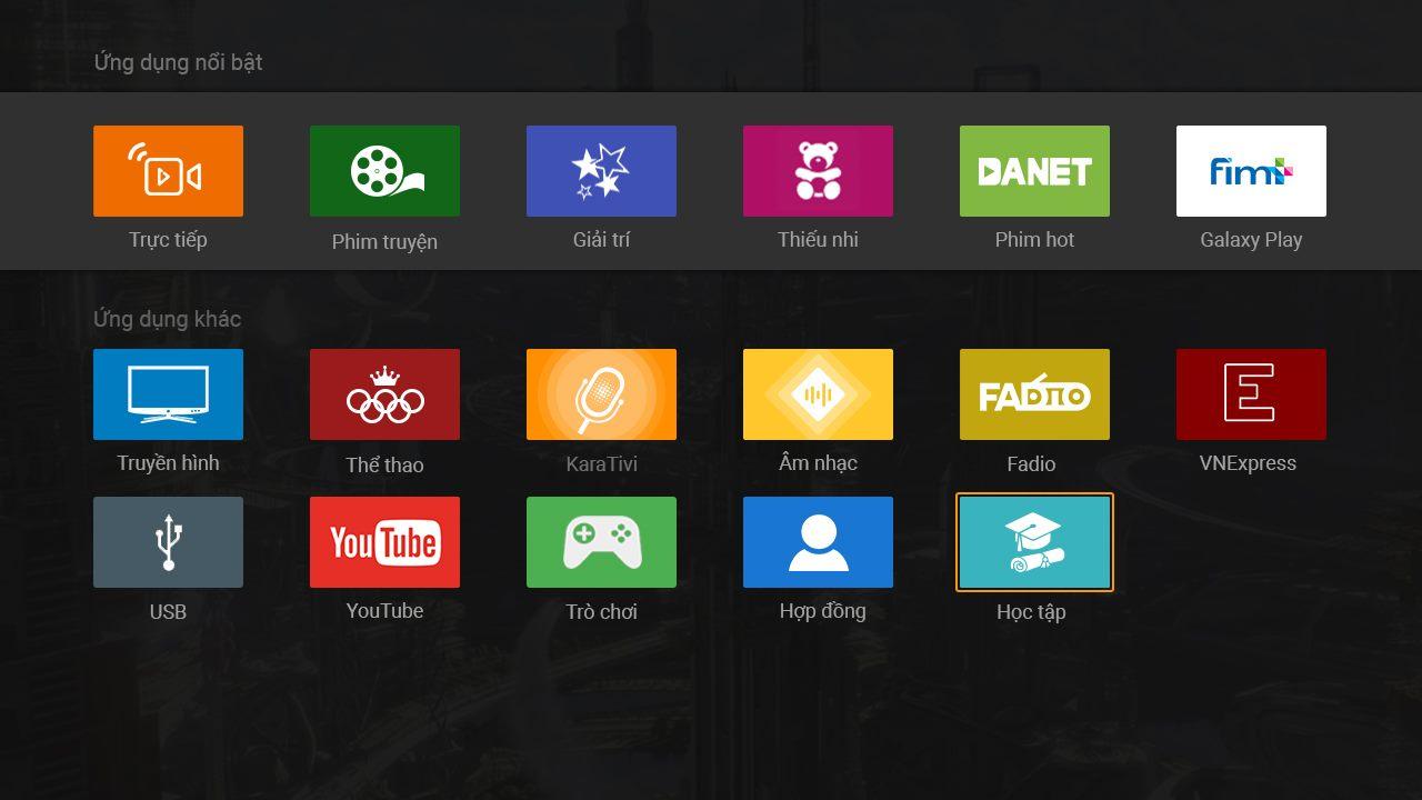 Truyền hình công nghệ IPTV của FPT Bình Chánh.