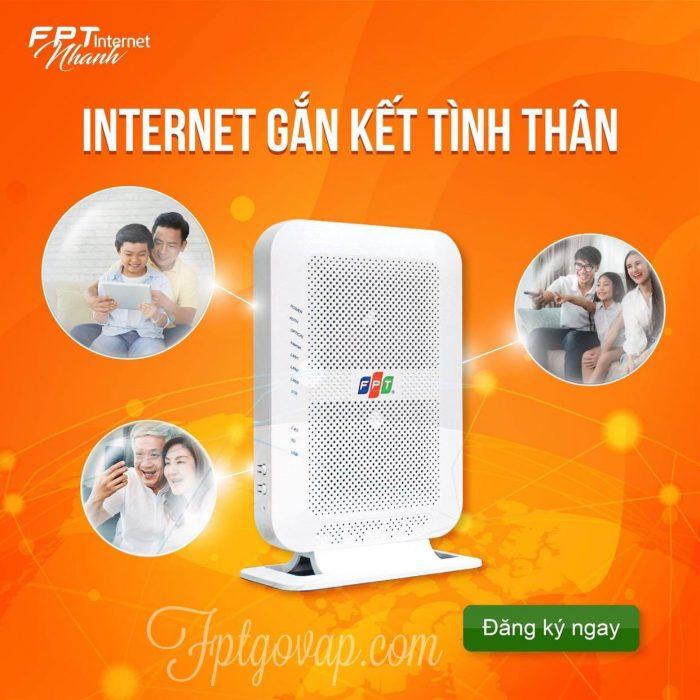 Internet cáp quang - Một sản phẩm của FPT Telecom Thống Nhất.