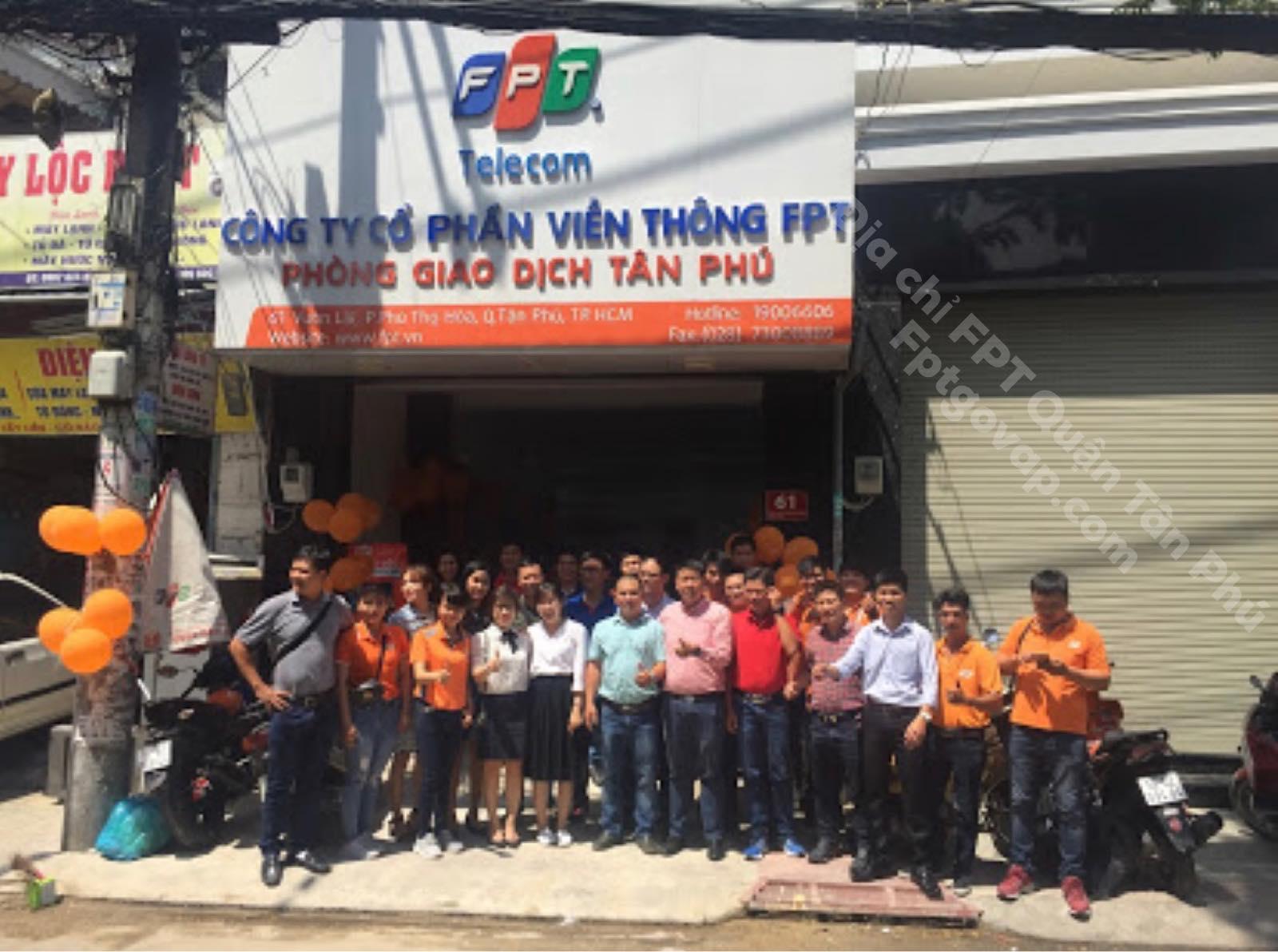 Chi nhánh FPT Telecom Quận Tân Phú.