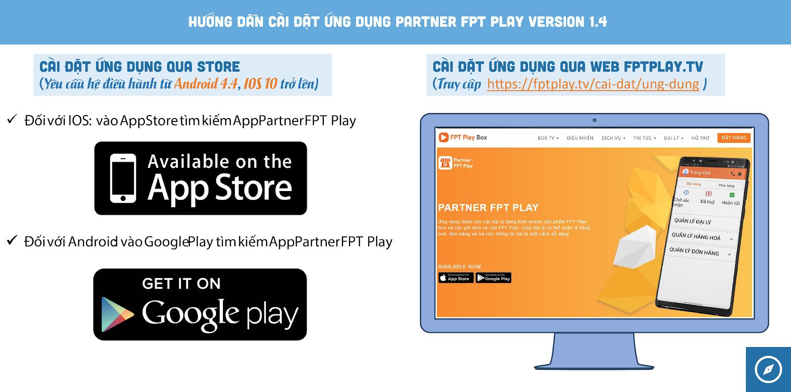 Ứng dụng Partner Play FPT đã có mặt ở cả 2 hệ điều hành IOS và Android.