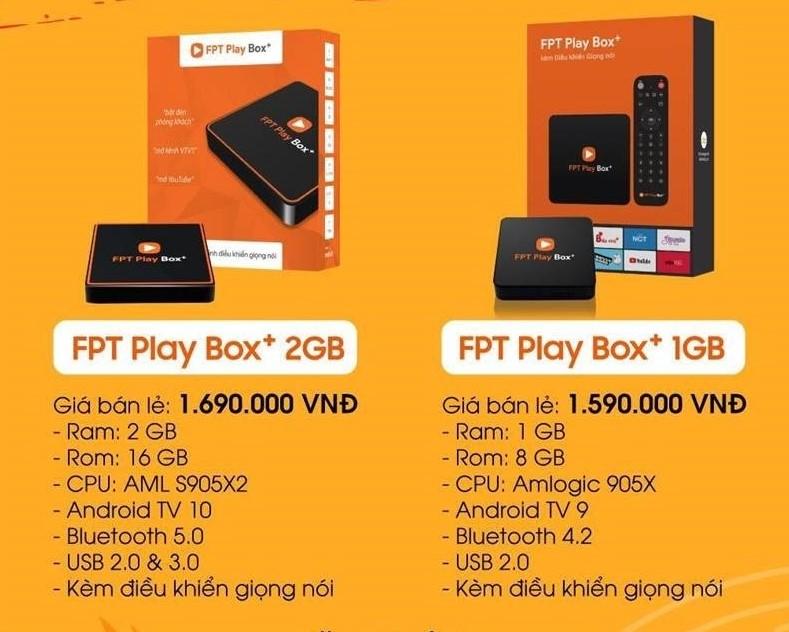 Bảng giá FPT Play Box phiên bản 2020 và 2019 ở Quận Phú Nhuận.