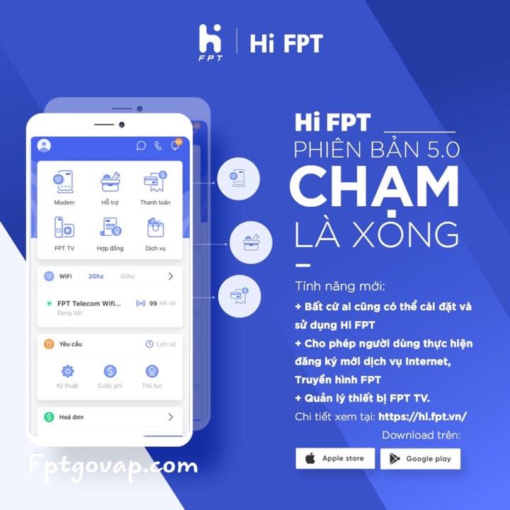 Ứng dụng Hi FPT - Quản lý wifi thông minh.