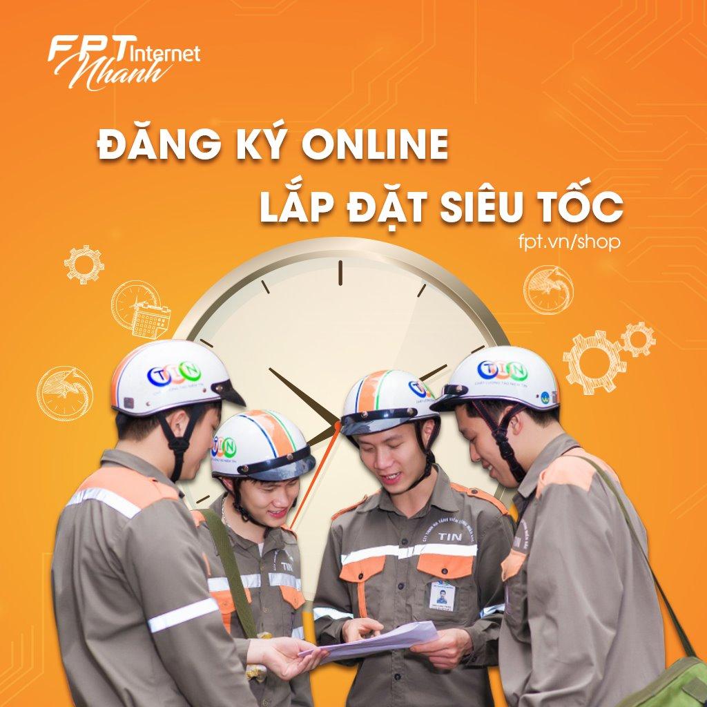 Quy trình lắp mạng FPT Quận Gò Vấp nhanh chóng trong vòng 24h.