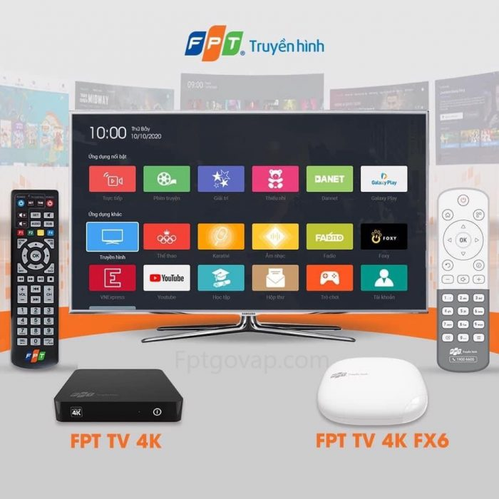 Giao diện hoàn toàn mới của truyền hình FPT 2020.