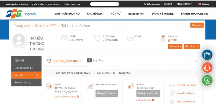 """Khách hàng có thể xem hợp đồng điện tử FPT trên trang chủ """" FPT.VN """""""