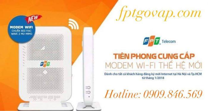 Modem wifi chuẩ AC đời mới của FPT Telecom.