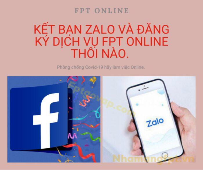 Khách hàng có thể gửi thông tin lắp mạng FPT qua Zalo, Facebook...