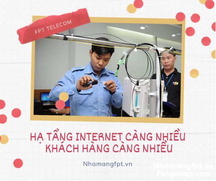 Muốn lắp mạng internet, trước hết phải có hạ tầng nhà mạng cung cấp.