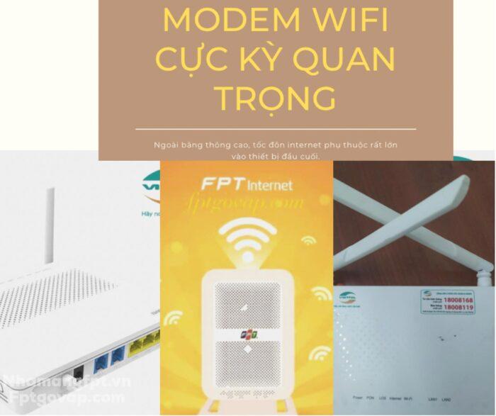 Modem wifi đóng vai trò rất quan trọng trong việc phát wifi, internet.