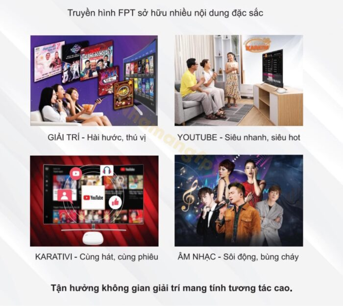 Truyền hình FPT sở hữu nhiều nội dung phong phú và đặc sắc.