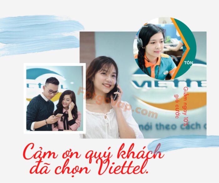 Cảm ơn quý khách đã sử dụng các dịch vụ của Viettel.