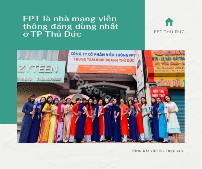 FPT lầ nhà mạng viễn thông đáng tin dùng nhất Tp Thủ Đức.