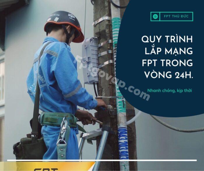 FPT triển khai hoàn tất lắp đặt internet cho khách hàng trong vòng 24h.