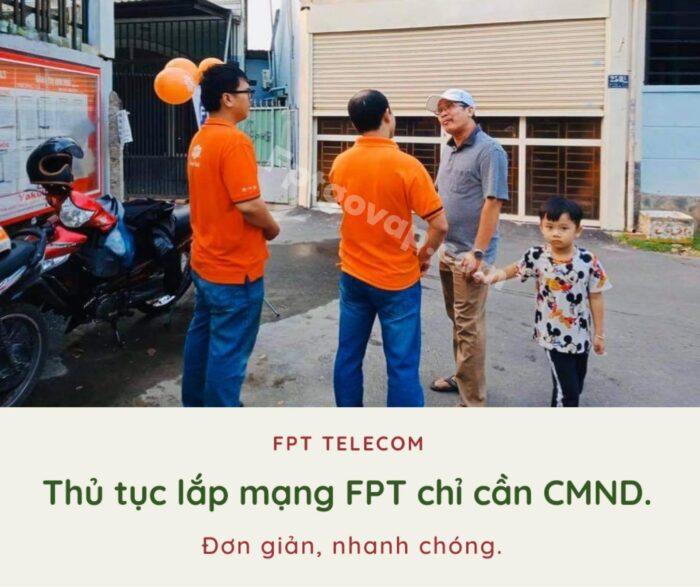 Thủ tục lắp mạng FPT ở Thủ Đức đơn giản, chỉ cần CMND.