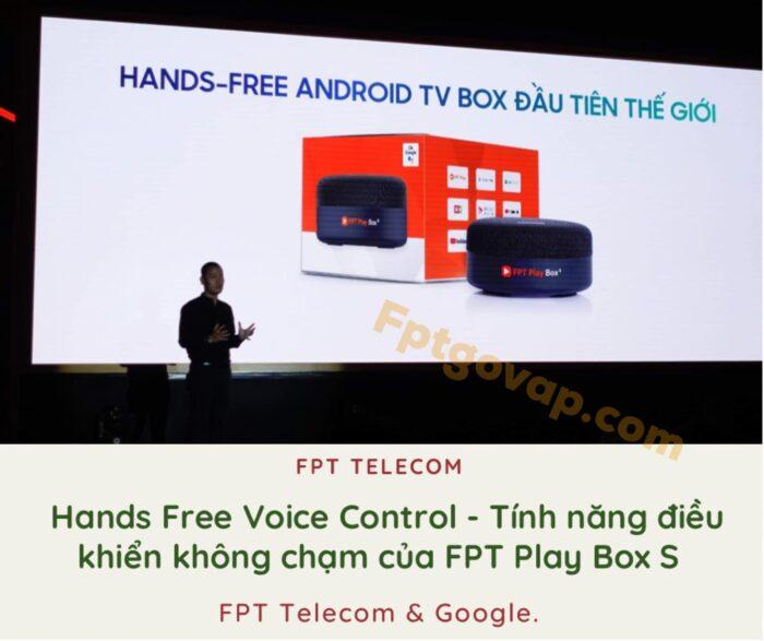 Tính năng điều khiển không chạm rất đặc biệt của FPT Play Box S năm 2021.