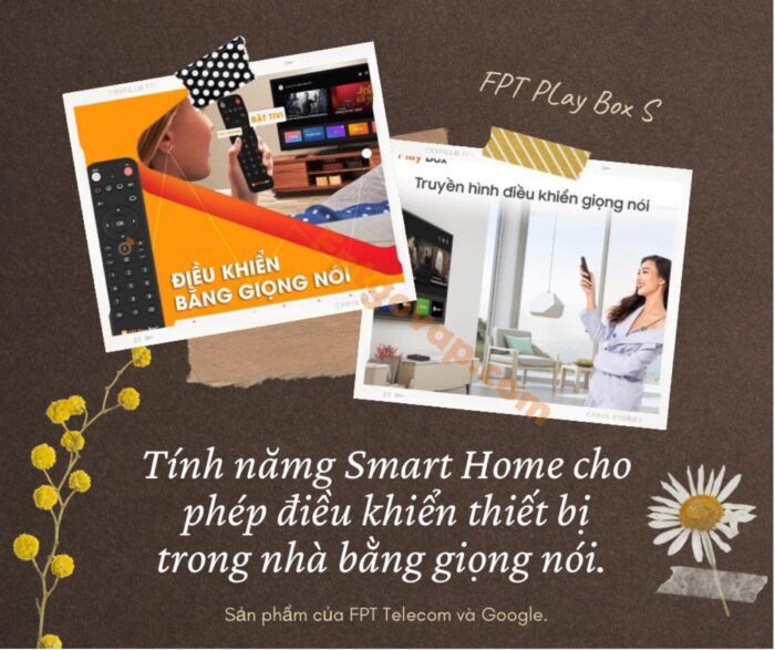 Điều khiển các thiết bị trong nhà thông qua tính năng Smart Home trong FPT Play Box S.