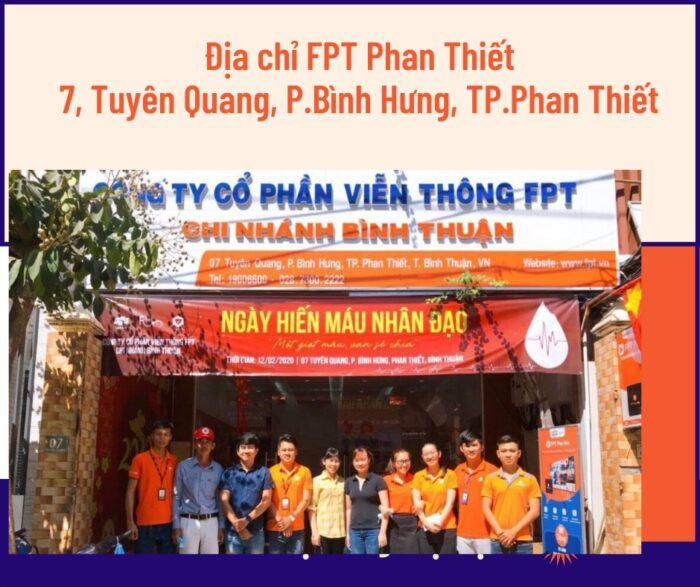 Văn phòng FPT Phan Thiết nằm ngay trung tâm TP Phan Thiết.